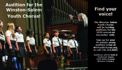 Dec. 16, 2019: Winston-Salem Youth Chorus Auditions