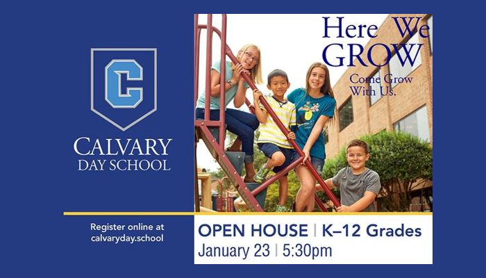 Jan. 23, 2020: Open House at Calvary Day School